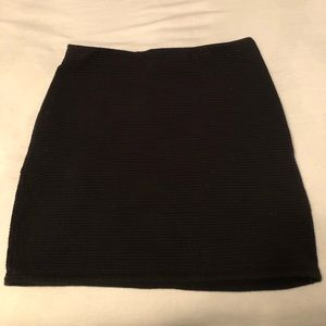 Wilfred Free High Waisted Ribbed Mini Skirt